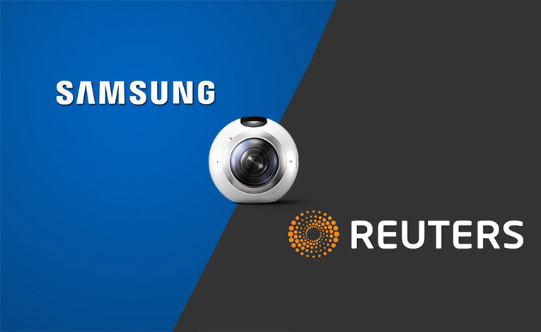 VR News Samsung Reuters Gear 360